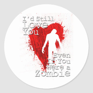 Zombie Love Classic Round Sticker