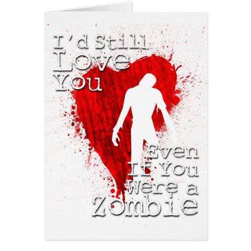 Zombie love greeting card zazzle