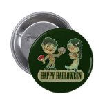 Zombie Love, Happy Holloween Pinback Buttons