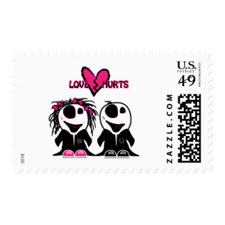 ZOMBIE LOVE HURTS STAMPS