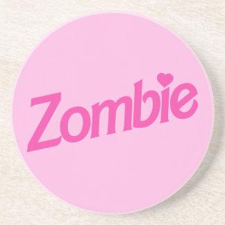 zombie love - i love zombies drink coaster