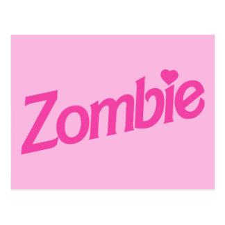 zombie love - i love zombies postcard