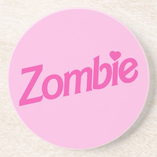 zombie love - i love zombies sandstone coaster
