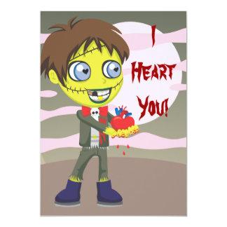 Zombie Love 5x7 Paper Invitation Card