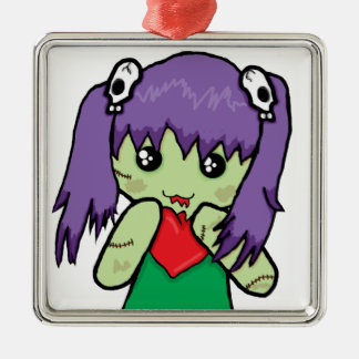 Zombie Love Metal Ornament