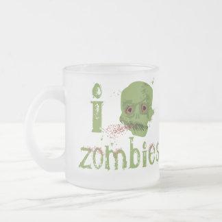 Zombie Love 10 Oz Frosted Glass Coffee Mug