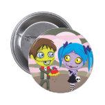 Zombie Love Pinback Button