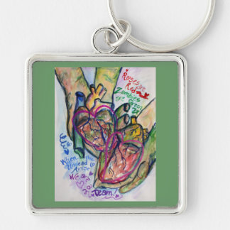 Zombie Love Poem Charm Keychain Pendants