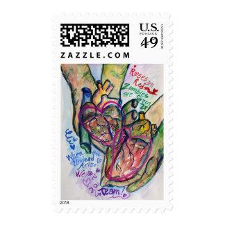 Zombie Love Poem Humor Postage Stamps