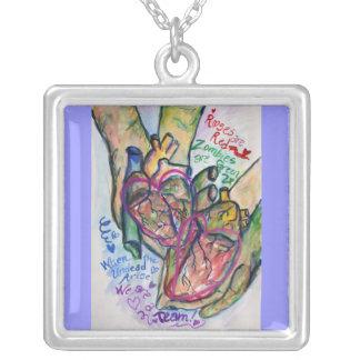 Zombie Love Poem Necklace Pendant Jewelry