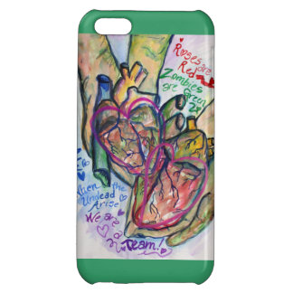 Zombie Love Poem Painting iPhone Art Case