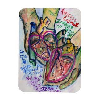 Zombie Love Poem Rectangle Art Custom Magnets