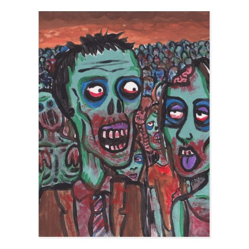 Zombie Love Post Card