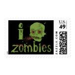 Zombie Love Postage Stamp