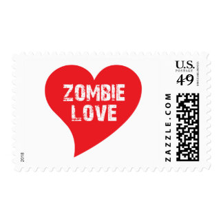 Zombie Love Postage Stamp