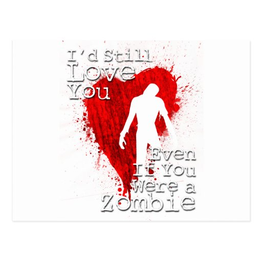Zombie Love Post Cards
