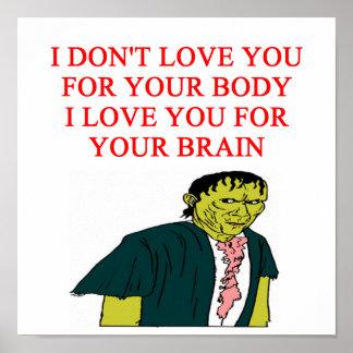 zombie love print