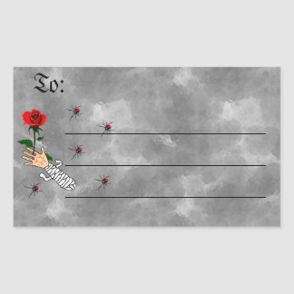 Zombie Love Rectangular Sticker