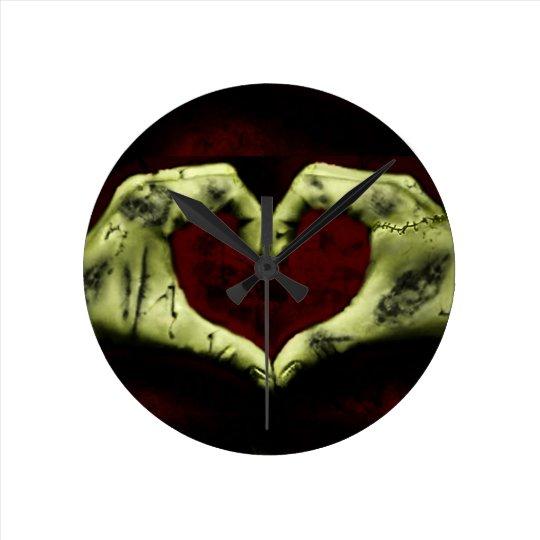 zombie love round clock