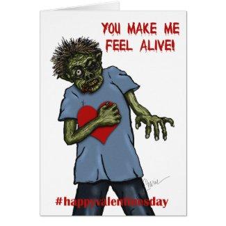 Zombie Love   Valentine's Day Card