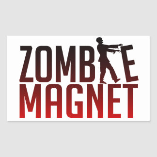 ZOMBIE MAGNET stickers