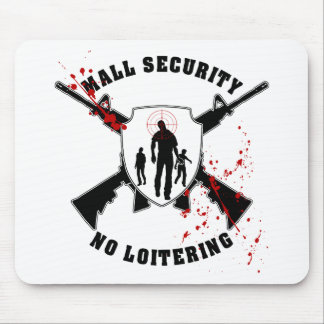 Zombie Mall Security Mouse Pad