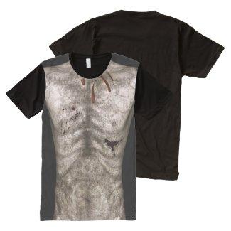 Zombie Man Torso All-Over Print T-shirt