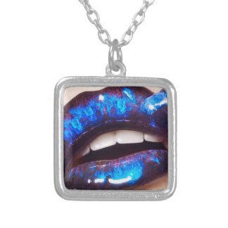 Zombie marble lip necklace