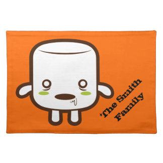 Zombie Marshmallow Cloth Placemat