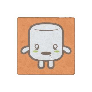 Zombie Marshmallow Stone Magnet