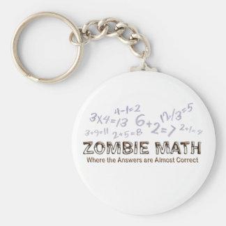 Zombie Math - Basic Basic Round Button Keychain