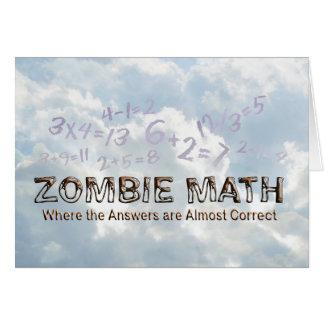Zombie Math - Basic Greeting Card