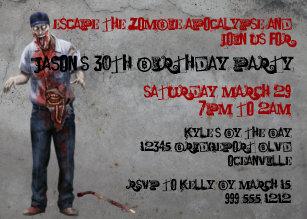 Zombie birthday cards greeting & photo cards zazzle