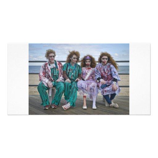 Zombie Medical Family Photo Card