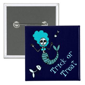 Zombie Mermaid Button