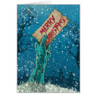 Zombie Merry Christmas Holiday Card