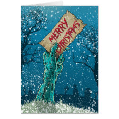 Zombie Merry Christmas Holiday Card at Zazzle