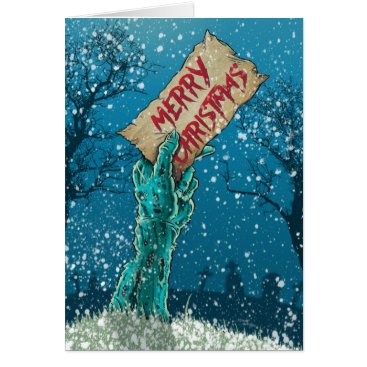 Zombies_Everywhere Zombie Merry Christmas Holiday Card