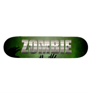 Zombie Metal Text Skateboard Deck