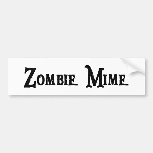 Zombie Mime Bumper Sticker