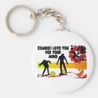 Zombie Mind Keychain