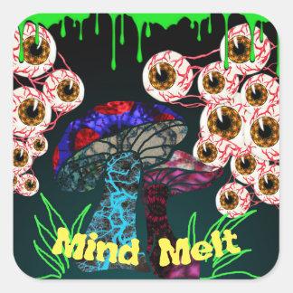 Zombie Mind Melt Square Sticker