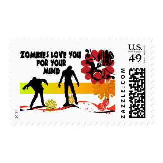 Zombie Mind Postage Stamp