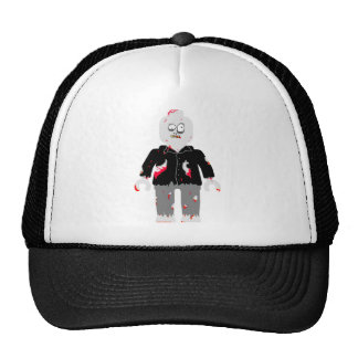 ZOMBIE MINIFIG [BLACK JACKET] by Zombie Ghetto Mesh Hats