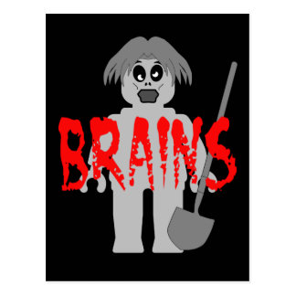Zombie Minifig 'Brains', Postcard