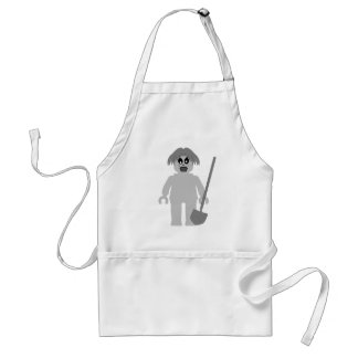 Zombie Minifig by Customize My Minifig Adult Apron