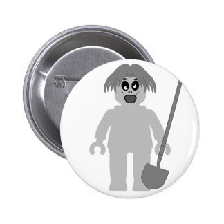 Zombie Minifig by Customize My Minifig Pinback Button