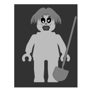 Zombie Minifig by Customize My Minifig Postcard