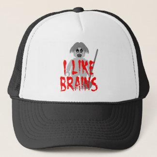 Zombie Minifig 'I Like Brains' Trucker Hat