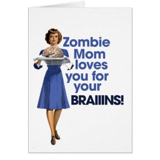 Zombie Mom Card